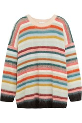 Chloe Oversized Striped Knitted Sweater Pink