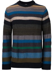 Paul Smith Ps By Striped Crew Neck Jumper Multicolour