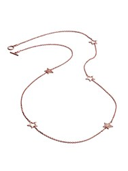 Chavin Rose Gold Five Charm Star Necklace Rose Gold