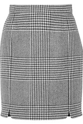 Balmain Pierre Houndstooth Tweed Mini Skirt Black