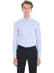 Salvatore Piccolo Slim Fit Striped Cotton Shirt