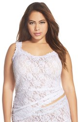 Plus Size Women's Hanky Panky 'Bride' Crystal Embellished Lace Camisole