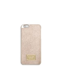 Michael Kors Metallic Leather Case For Iphone 6 Plus Pale Gold