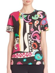 Etro Collage Art T Shirt Black Multi