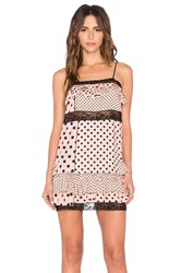 Marc By Marc Jacobs Viscose Polka Dot Mini Dress Pink