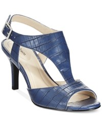 Styleandco. Style And Co. Saharii T Strap Dress Sandals Only At Macy's Women's Shoes Navy
