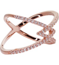 Carat Orion Millennium Rose Gold Finish Ring White