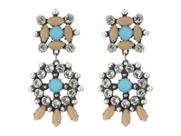 Dannijo Lagos Earrings Ox Silver Nude Turquoise Earring Multi