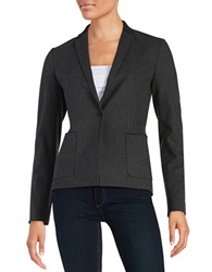 T Tahari One Button Blazer Dark Grey