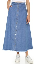 Sjyp Denim Button Long Skirt