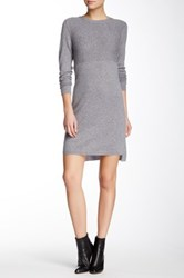 Magaschoni Long Sleeve Cashmere Sweater Dress Gray
