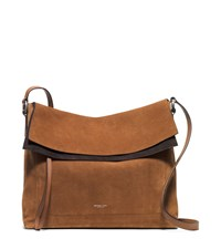 Michael Kors Sedona Large Suede Flap Messenger