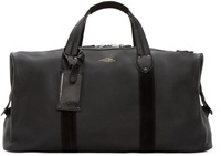 Rag And Bone Black Leather Derby Overnight Bag
