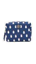 Tory Burch Printed Nylon Brigitte Cosmetic Case Midnight Swim