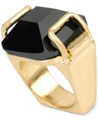 Kenneth Cole New York Gold Tone Faceted Stone Ring