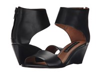 Steven Laynna Black Leather Women's Wedge Shoes