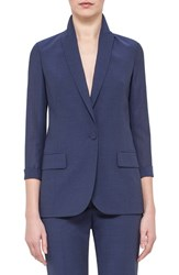 Women's Akris One Button Tropical Wool Jacket