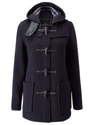 Gloverall Mid Length Slim Duffle Coat Navy