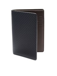 Dunhill Chassis Small Vertical Leather Bifold Wallet Blue