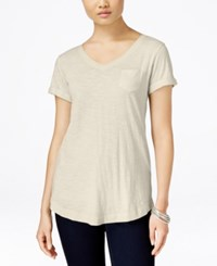 Styleandco. Style Co. V Neck Tee Stonewall