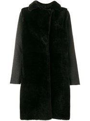 Yves Salomon Layered Reversible Fur Coat Black