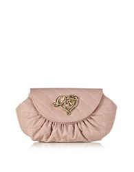 Love Moschino Small Quilted Pouch Pink
