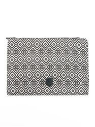Osklen Jacquard Clutch Nude And Neutrals