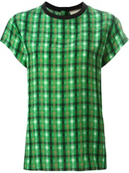 Fausto Puglisi Checked T Shirt Green