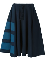 Y 3 Pleated Panel Skirt Blue