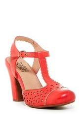 Miz Mooz Nico T Strap Pump Red