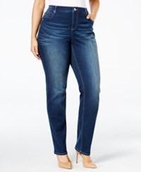 Inc International Concepts Plus Size Slim Tech Rose Wash Skinny Jeans Only At Macy's