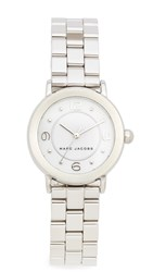 Marc Jacobs Small Riley Watch Silver White