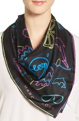 Marc By Marc Jacobs Women's Neon Lights Silk Scarf