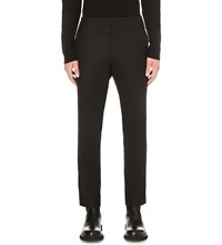 Wooyoungmi Regular Fit Tapered Wool Blend Trousers Black