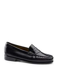 G.H. Bass Whitney Weejuns Leather Penny Loafers Black