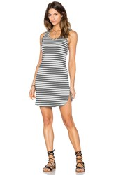 Bobi Cashmere Terry Stripe Midi Tank Dress Gray
