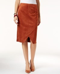 Inc International Concepts Faux Suede Asymmetrical Pencil Skirt Only At Macy's Rawhide