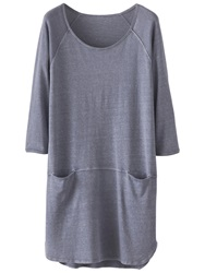 Poetry Hemp Cotton Jersey Tunic Dress Blue Steel