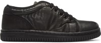 Christian Peau Black Leather Cdp Low Cut Sneakers