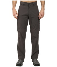 Jack Wolfskin Activate Zip Off Pants Dark Steel Men's Casual Pants Brown