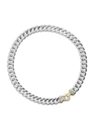 David Yurman Cable Buckle Necklace In Sterling Silver And 14K Gold Silver Gold
