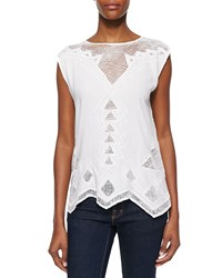 Golden By Jpb Paradise Netted Cotton Top White