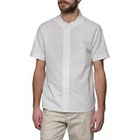Ymc Cream Double Stripe Baseball Shirt White