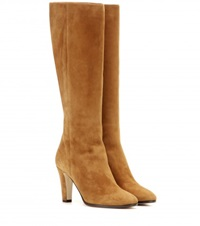 Jimmy Choo Martine Suede Knee High Boots Brown