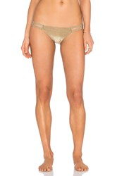Vitamin A Neutra Hipster Bikini Bottom Metallic Bronze