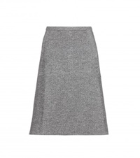 Tomas Maier Cotton And Wool Blend Skirt Black