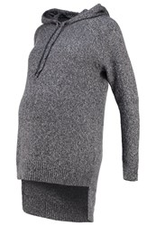 Mama Licious Mlslown Jumper Medium Grey Melange Mottled Grey