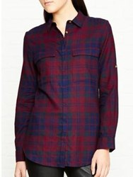 Barbour Highland Shirt Burgundy
