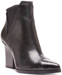 Donald J Pliner Vaughn Pointed Toe Stretch Booties Women's Shoes Black