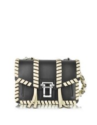 Proenza Schouler Hava Black And Ecru Smooth Leather Chain Handbag